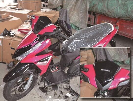 台州查处160辆商标侵权摩托车